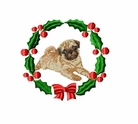 pug1wreath Pug   (small or large design)
