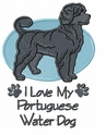 pwd008 Portuguese Water Dog (small or large design)