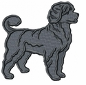 pwd009 Portuguese Water Dog (small or large design)