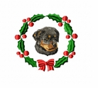 rottie1wreath Rottweiler (small or large design)