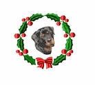 rottie4wreath Rottweiler (small or large design)