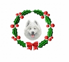 sam1wreath Samoyed (small or large design)