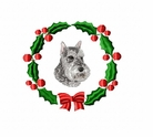 schn1wreath Schnauzer    (small or large design)