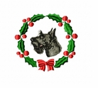 scot1wreath Scottish Terrier (small or large design)