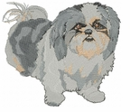 shih009 Shih Tzu (small or large design)