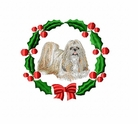 shih2wreath Shih Tzu (small or large design)