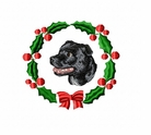 staffie2wreath Staffordshire Bull Terrier (small or large design)