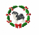 tibspan1wreath Tibetan Spaniel (small or large design)
