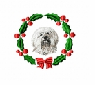 tibter1wreath Tibetan Terrier (small or large design)