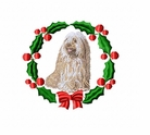 tibter2wreath Tibetan Terrier (small or large design)