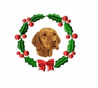 vizsla1wreath Vizsla (small or large design)