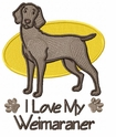 weim001 Weimaraner (small or large design)