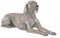 weim018 Weimaraner (small or large design)