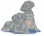 weim020 Weimaraner (small or large design)