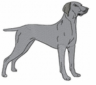 weim021 Weimaraner (small or large design)