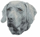 weim022 Weimaraner (small or large design)