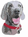 weim030 Weimaraner  (small or large design)