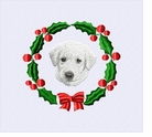 wgsd1wreath White Shepherd (small or large design)