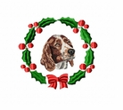 wss1wreath Welsh Springer Spaniel (small or large design)