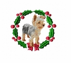 yorkie10wreath Yorkshire Terrier (small or large design)