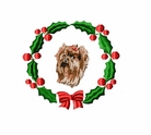 yorkie12wreath Yorkshire Terrier (small or large design)