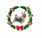 yorkie1wreath Yorkshire Terrier (small or large design)