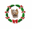 yorkie3wreath Yorkshire Terrier (small or large design)