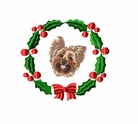 yorkie4wreath Yorkshire Terrier (small or large design)