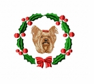 yorkie9wreath Yorkshire Terrier (small or large design)