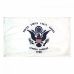 "12"" X 18"" Nylon Coast Guard Flag"