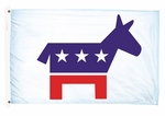 Lightweight Printed Democratic Flag