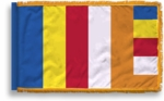 3' X 5' Fringed Buddhist Flag