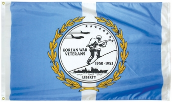3' X 5' NYL-GLO Korean War Veterans Flag