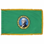 3' X 5' Nylon Indoor/Parade Washington State Flag