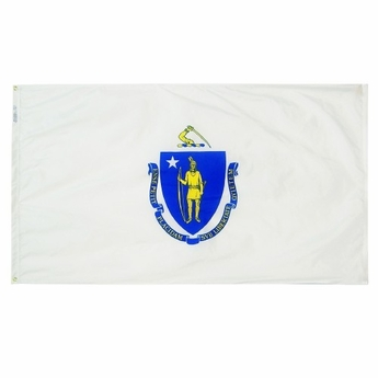 3' X 5' Nylon Massachusetts State Flag