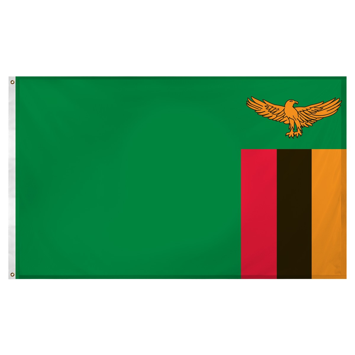 3 39 x 5 39 nylon zambia flag. Black Bedroom Furniture Sets. Home Design Ideas
