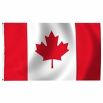 Lightweight Economy Printed Canada Flags
