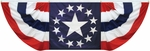3' X 9' Nylon Pleated Patriotic Star Fan