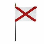 "4"" X 6"" Alabama Stick Flags"