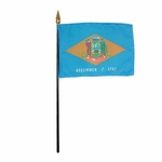 "4"" X 6"" Delaware Stick Flags"