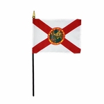 "4"" X 6"" Florida Stick Flags"