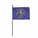 """4"""" X 6"""" Indiana Stick Flags"""