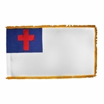 4' X 6' Indoor Christian Flag - Fringed or Unfringed