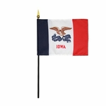 "4"" X 6"" Iowa Stick Flags"