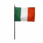 "4"" X 6"" Ireland Stick Flag"