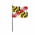 """4"""" X 6"""" Maryland Stick Flags"""