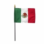 "4"" X 6"" Mexico Stick Flags"