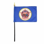 "4"" X 6"" Minnesota Stick Flags"
