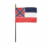 "4"" X 6"" Mississippi Stick Flags"