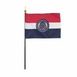 "4"" X 6"" Missouri Stick Flags"